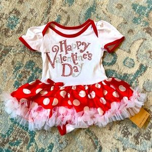 Valentine's Day Baby Outfit Size Small (0-3mo)